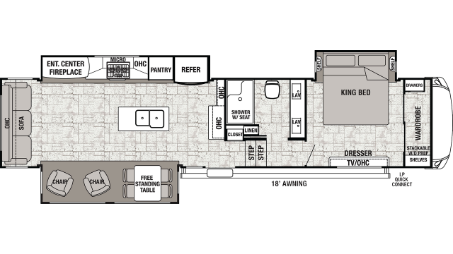 2019 Cedar Creek 36CK2 Floor Plan