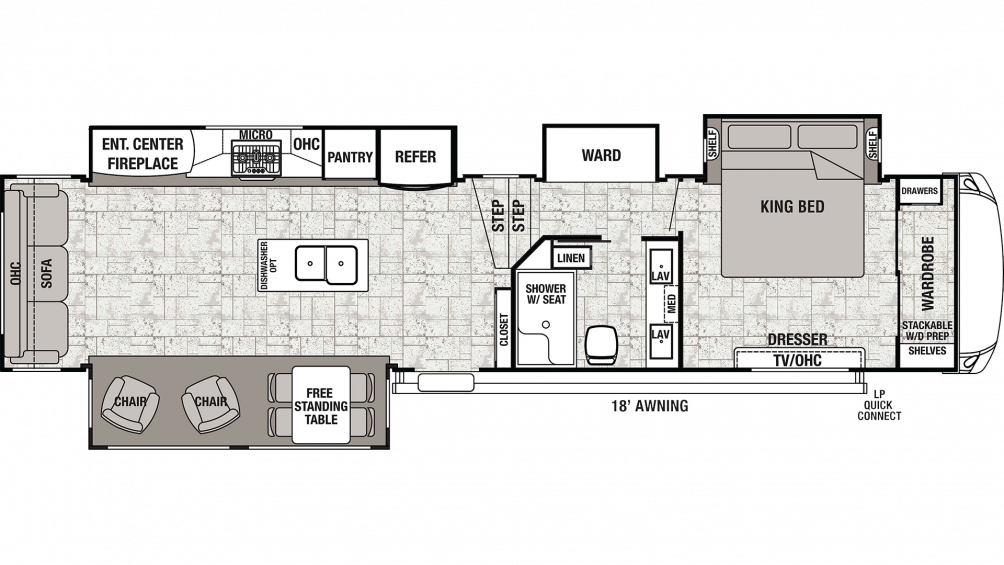 2019 Cedar Creek 38CK2 Floor Plan Img