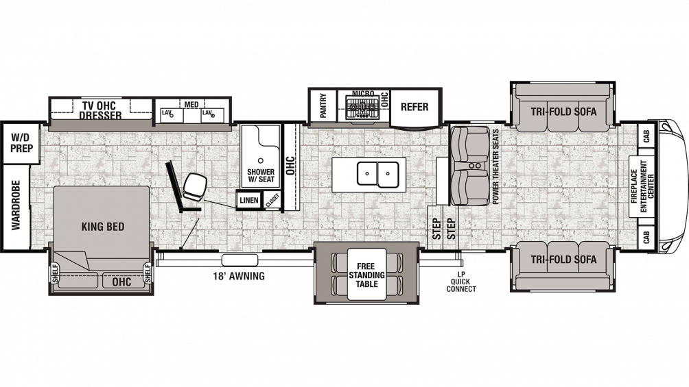 2019 Cedar Creek 38FLX Floor Plan Img
