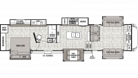 2019 Cedar Creek 38FLX Floor Plan