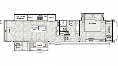 2019 Cedar Creek Champagne 38EL Floor Plan Img