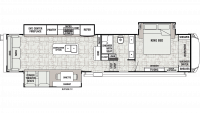 2019 Cedar Creek Champagne 38EL Floor Plan