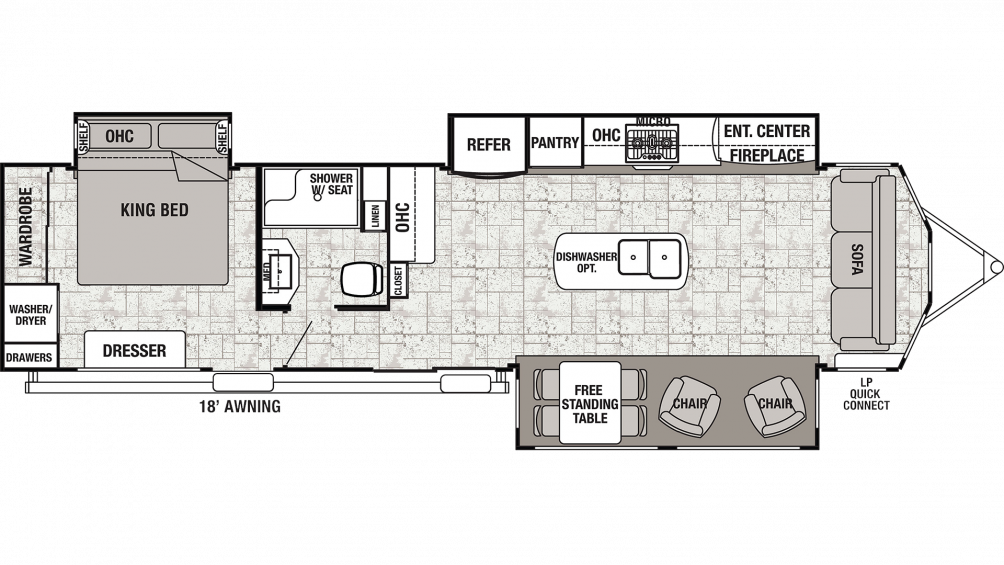 2019 Cedar Creek Cottage 40CCK Floor Plan Img