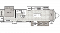 2019 Cedar Creek Cottage 40CCK Floor Plan