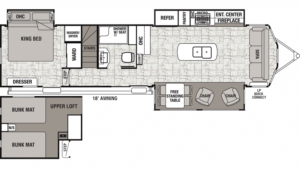 2019 Cedar Creek Cottage 40CL Floor Plan Img