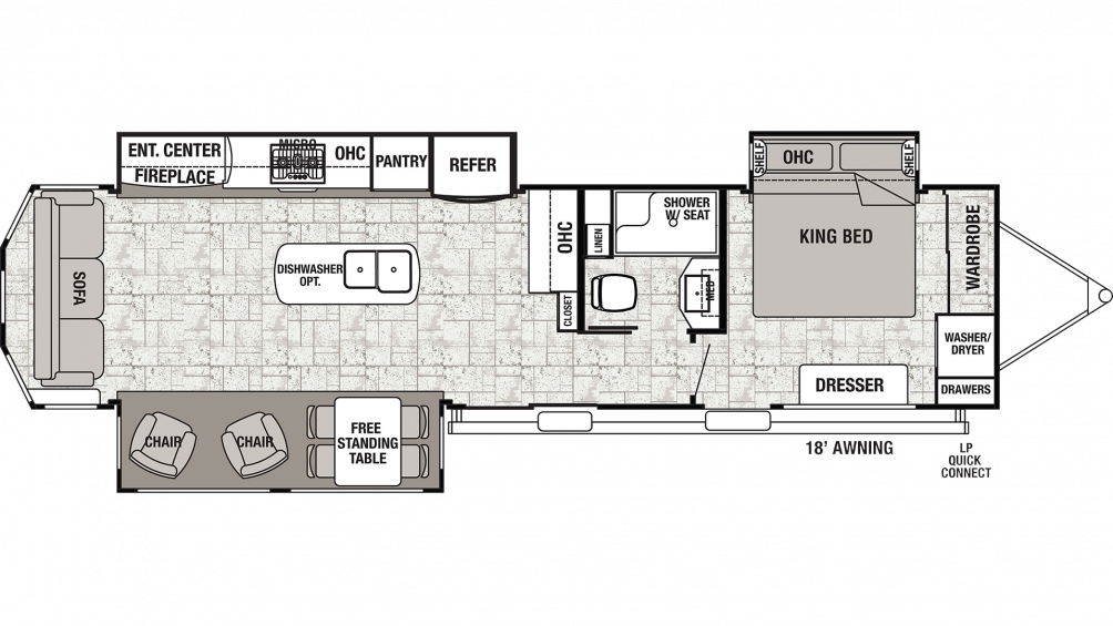 2019 Cedar Creek Cottage 40CRS Floor Plan Img