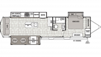 2019 Cedar Creek Cottage 40CRS Floor Plan
