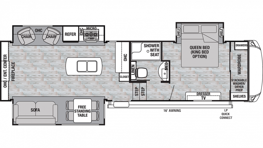 2019 Cedar Creek Silverback 29IK Floor Plan Img