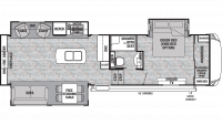 2019 Cedar Creek Silverback 29IK Floor Plan