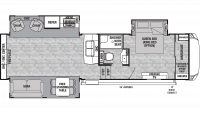 2019 Cedar Creek Silverback 29RE Floor Plan