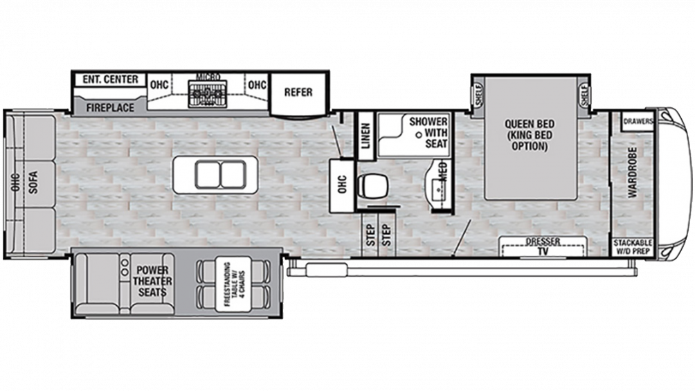 2019 Cedar Creek Silverback 31IK Floor Plan Img