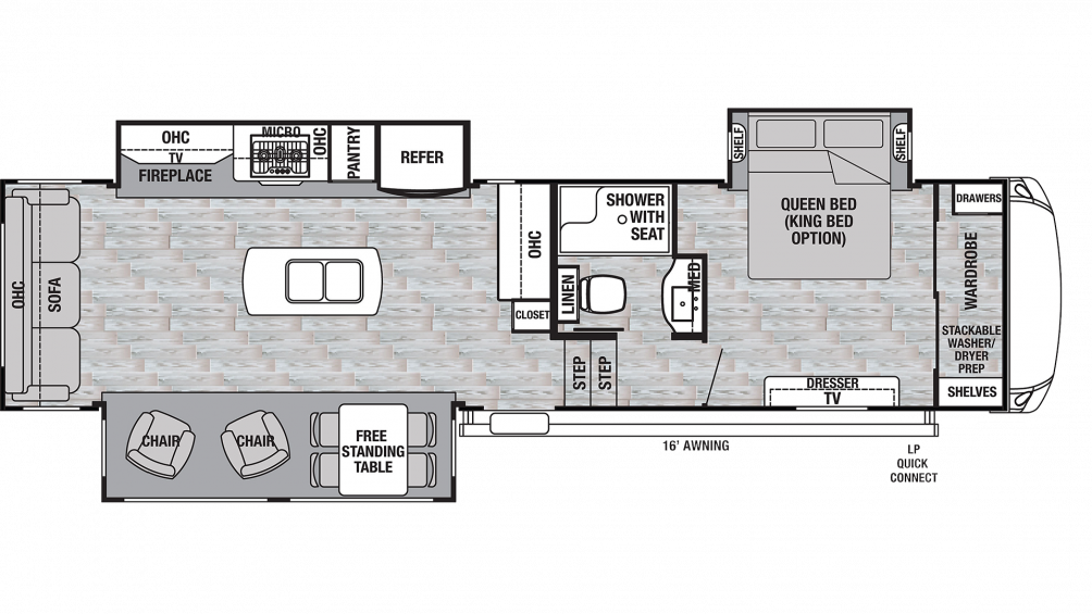 2019 Cedar Creek Silverback 33IK Floor Plan Img
