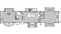 2019 Cedar Creek Silverback 37FLK Floor Plan