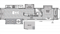 2019 Cedar Creek Silverback 37MBH Floor Plan