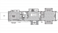 2019 Cedar Creek Silverback 37RTH Floor Plan