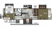 2019 Flagstaff Classic Super Lite 8529FLS Floor Plan