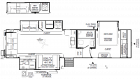 2019 Flagstaff Classic Super Lite 8528CBS Floor Plan