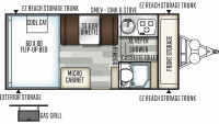 2019 Flagstaff Hard Side 21DMHW Floor Plan