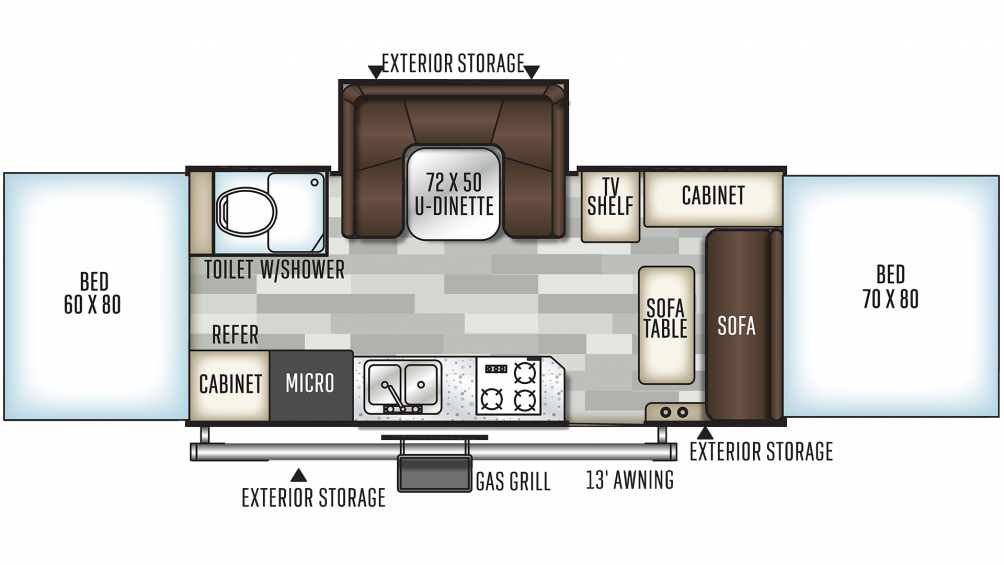 2019 Flagstaff High Wall HW29SC Floor Plan Img
