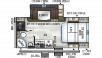 2019 Flagstaff Micro Lite 21DS Floor Plan