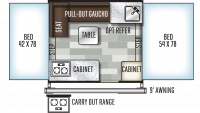 2019 Flagstaff Sports Enthusiast 176SE Floor Plan