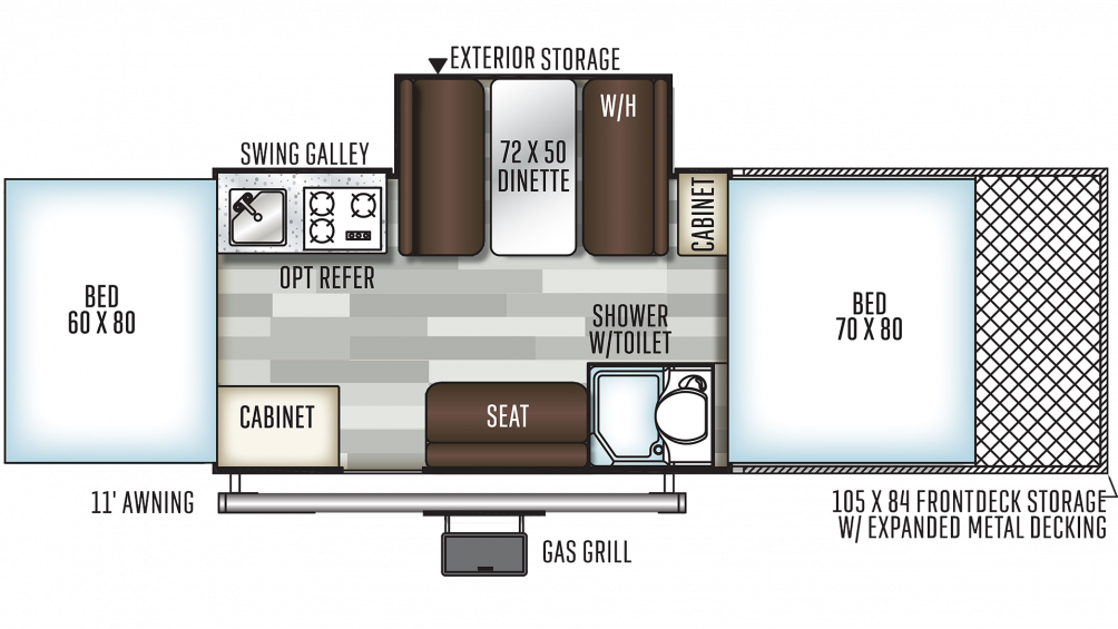 2019 Flagstaff Sports Enthusiast 28TSCSE Floor Plan Img
