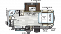 2019 Flagstaff Super Lite 23FBDS Floor Plan