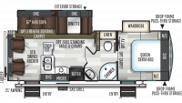 2019 Flagstaff Super Lite 26RLWS Floor Plan