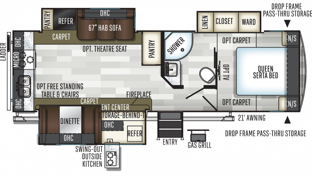 2019 Flagstaff Super Lite 27RKWS Floor Plan Img