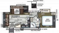 2019 Flagstaff Super Lite 524LWS Floor Plan