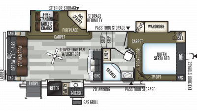 2019 Flagstaff Super Lite 526KSWS Floor Plan Img