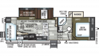 2019 Flagstaff Super Lite 527BHS Floor Plan