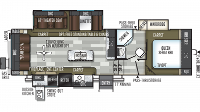 2019 Flagstaff Super Lite 528CKWS Floor Plan Img
