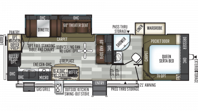 2019 Flagstaff Super Lite 528RKS Floor Plan Img