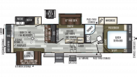 2019 Flagstaff Super Lite 529MBS Floor Plan