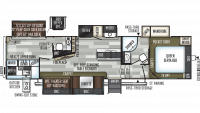 2019 Flagstaff Super Lite 529RBS Floor Plan