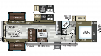 2019 Flagstaff Super Lite 529RLKS Floor Plan Img
