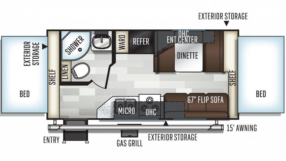 2019 Flagstaff Shamrock 19 Floor Plan Img