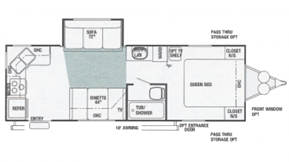 2003 Wildwood 25RKS Floor Plan Img