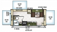 2019 Flagstaff Shamrock 183 Floor Plan