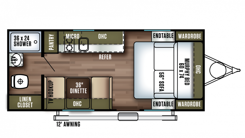 2018 Salem FSX 187RB Floor Plan Img