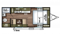 2018 Salem FSX 187RB Floor Plan