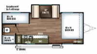 2018 Salem FSX 207BH Floor Plan