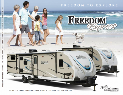 2018 Coachmen Freedom Express RV Brochure Cover