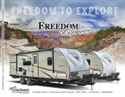2017 Coachmen Freedom Express Liberty Edition RV Brand Brochure Cover