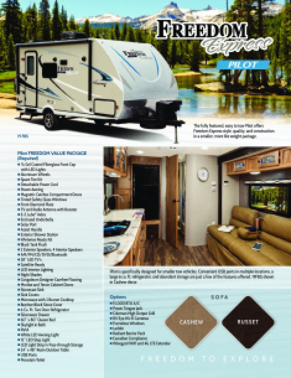 2019 Coachmen Freedom Express Pilot RV Brochure Cover