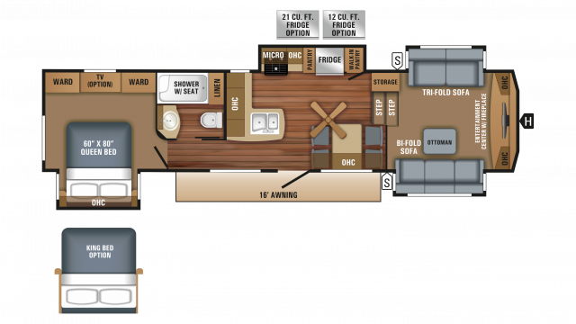 2018 Eagle 339FLQS Floor Plan