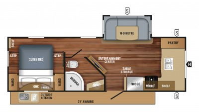2018 White Hawk 25FK Floor Plan