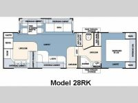 2007 Wildcat 28RKSE Floor Plan
