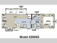 2009 Rockwood Signature Ultra Lite 8283SS Floor Plan